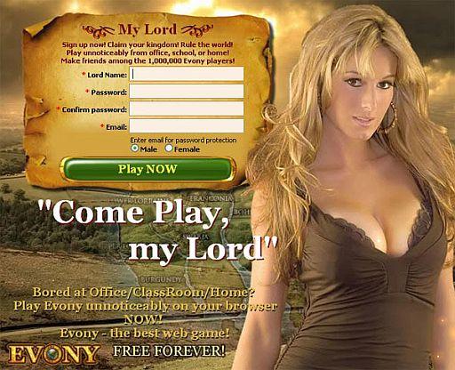 Evony breasts advertising