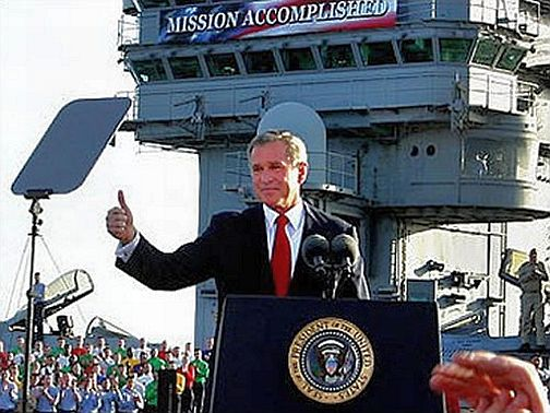 George Bush Mission accomplished